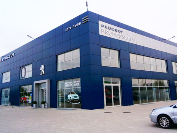 "Automobile dealership ""Peugeot"